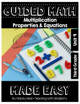 Third Grade Guided Math ~ Multiplication Properties & Equations