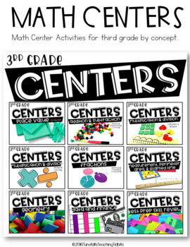 Third Grade Guided Math Stack Bundle