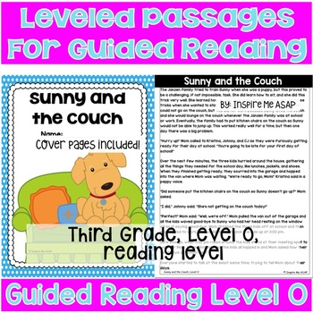 Third Grade Guided Reading Level O