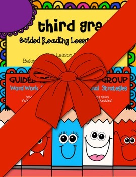 Third Grade Guided Reading Word Work Strategies/ Lesson Plan Book Bundle