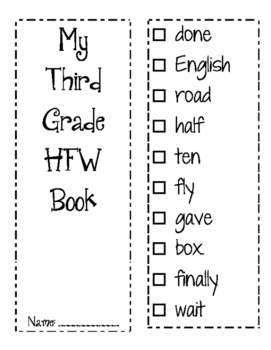 Third Grade HFW Book