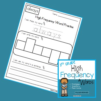 Third Grade High Frequency Words