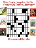 Houghton Mifflin Reading 3rd Grade Vocabulary Crossword Puzzles Themes 1-6