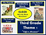 Houghton Mifflin Reading Third Grade Theme 1 Cloze Worksheets