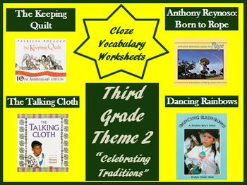 Houghton Mifflin Reading Third Grade Theme 2 Cloze Worksheets