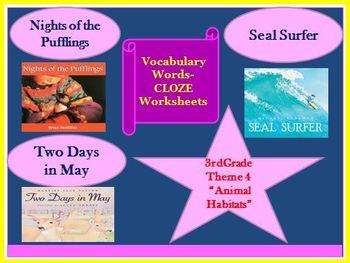 Houghton Mifflin Third Grade Theme 4 Cloze Worksheets