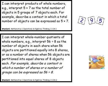 """Third Grade """"I Can"""" Common Core Standards-Math"""