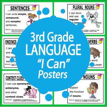 "3rd Grade Language ""I Can"" Posters (28 FULL COLOR Posters!)"