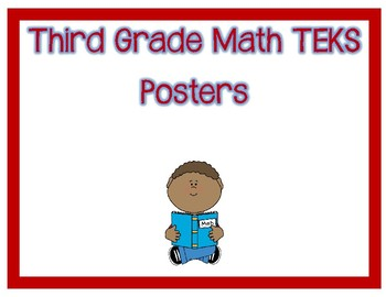 Third Grade I Can Math TEKS Posters