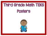 Third Grade I Can Math TEKS Posters