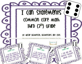 Third Grade I Can Statements Common Core