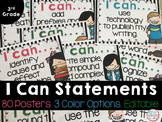 Third Grade I Can Statements *EDITABLE*
