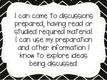 """Third Grade """"I Can"""" Statements LAFS & Common Core Speaking & Listening"""