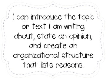 """Third Grade """"I Can"""" Statements LAFS & Common Core Writing Plain"""