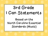 Third Grade I Can Statements (NC Music) - Shades of Orange Dots