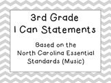 Third Grade I Can Statements (NC Music) - Slate Chevron
