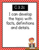 """Third Grade """"I Can"""" Statements for KY NEW Reading and Writing Standards"""