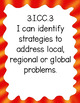 "Third Grade ""I Can"" Statements for KY NEW Revised Social Studies Standards"