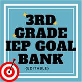 Third Grade IEP Goal Bank {editable}