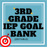 Third Grade IEP Goal Bank {editable}