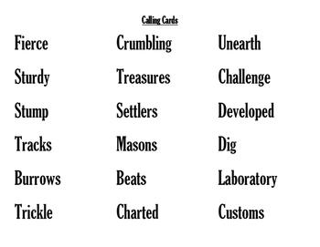 Third Grade Imagine It! Communities Across Time Vocabulary Bingo