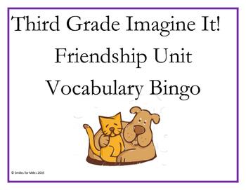Third Grade Imagine It! Friendship Vocabulary Bingo