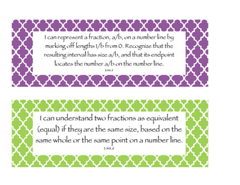 """Third Grade Indiana """"I Can"""" Statements for Math and ELA"""