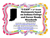 "Third Grade Indiana ""I Can"" Statements for Math and ELA"