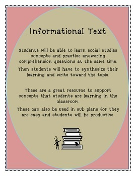 Common Core Informational Text with Comprehension Questions