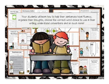 Interactive Grammar Notebook ~ Grammar/Mechanics + Writing for 3rd CCSS