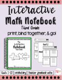 Third Grade Interactive Math Notebook (Units 1-12)
