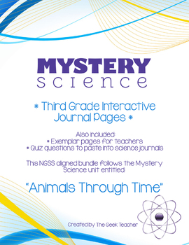 Third Grade Interactive Science Journals-Mystery Science (Animals Through Time)