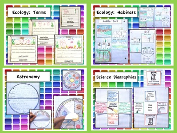 Third Grade Interactive Science Notebook: Core Knowledge Foldables