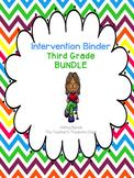 Third Grade Intervention Binder BUNDLE