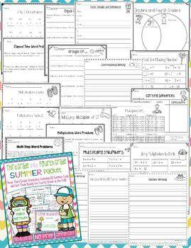 Third Grade Into Fourth Grade Summer Packet
