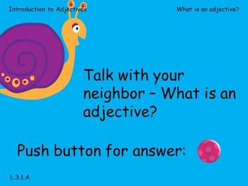 Third Grade - Introduction to Adjectives