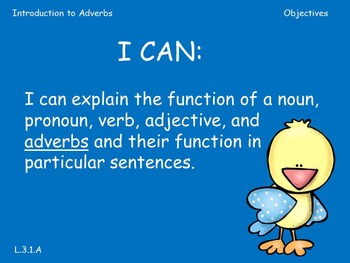 Third Grade Introduction to Adverbs