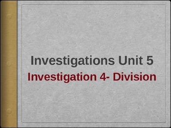 Third Grade Investigations Unit 5, Investigation 4 Division