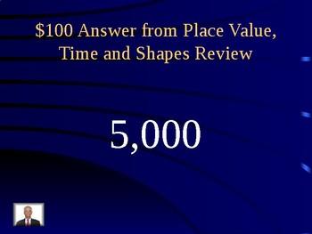 Third Grade Jeopardy EOG Review