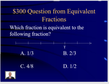 Third Grade Jeopardy EOG Review, Measurement and Fractions BUNDLE