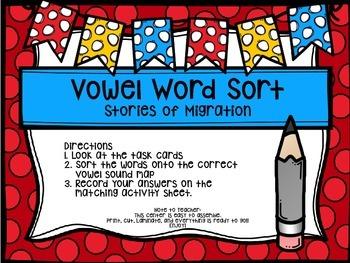 Third Grade Journey's Spelling Centers & Activities (Stories of Migration)