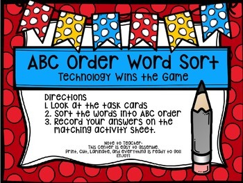 Third Grade Journey's Spelling Centers & Activities (Story: Technology Wins..)