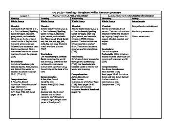 Third Grade Journey's Unit 1 Lesson Plans