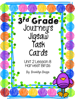 Third Grade Journey's Vocabulary Jigsaw - Harvest Birds