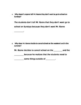 Third Grade Journeys Common Core Lesson 1 (A Fine, Fine School)