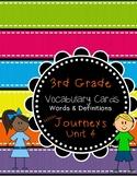 Third Grade Journeys ELA Unit Four Vocabulary Cards