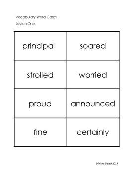 Third Grade Journeys ELA Units One - Six Vocabulary Cards