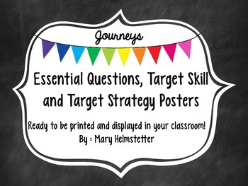 Third Grade Journeys - Essential Questions, Target Skill & Strategy Posters