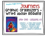 Third Grade Journeys Lessons 1-5 Graphic Organizers + Writ