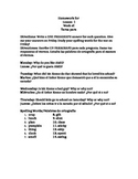 Third Grade Journeys Lessons 1-5 Homework in English and Spanish